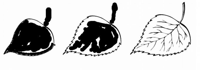 Как нарисовать лист