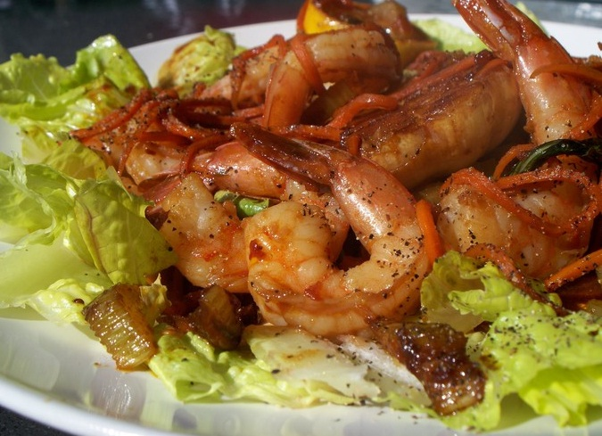 How to roast shrimp in the shell