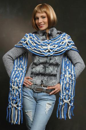 Как связать шарф на спицах