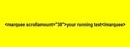 Как сделать бегущую строку