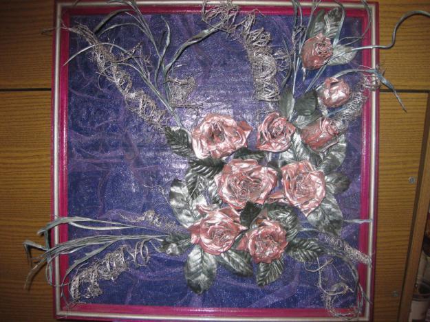 Из сухих цветов можно делать целые картины