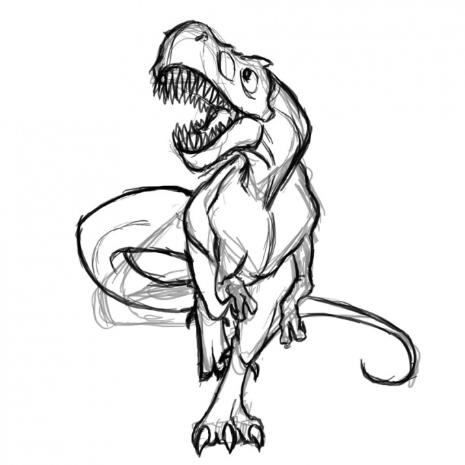 Как нарисовать динозавра
