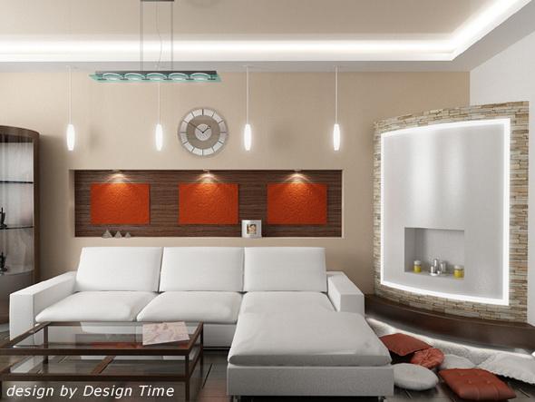 Красивые ниши в стенах являются неотъемлемым атрибутом современного интерьера