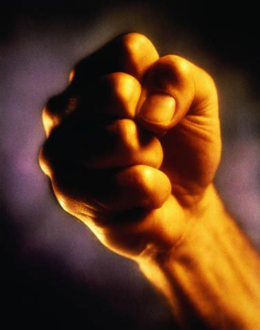 A strong fist is necessary for any representative of the male half of humanity