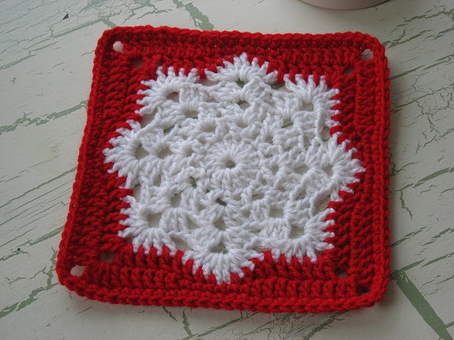How to knit a square crochet