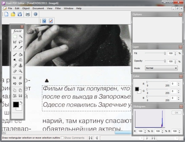Special programs help to edit the PDF document