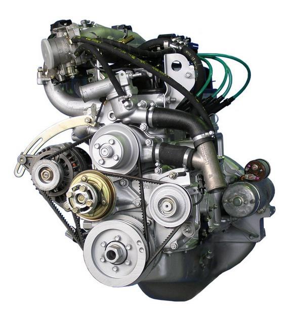 Вид двигателя со стороны шкивов