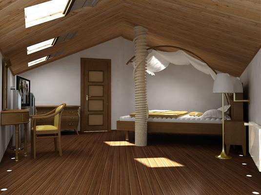 Хорошо утеплив мансардное помещение, можно добиться лучшего сохранения тепла во всем доме