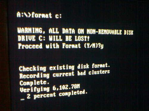 Форматирование  представляет собой разметку дискового пространства