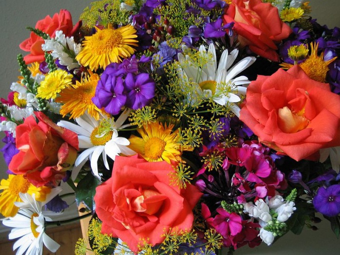 To gather a wonderful bunch, not necessarily to be a professional florist