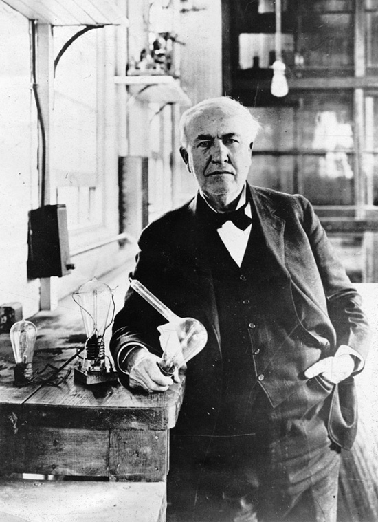 Thomas Edison also received a patent and became a world famous inventor