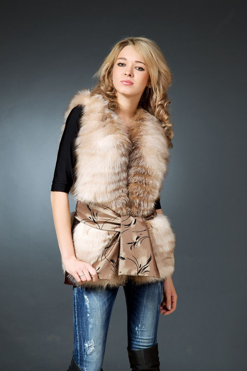 How to sew a fur vest