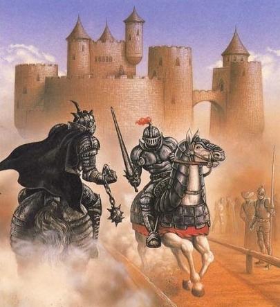 Жилье рыцаря - замок, защищенный от врагов высокими стенами