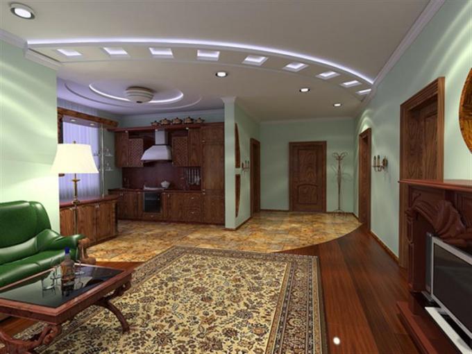 Подсветка потолков раздвигает пространство апомещения