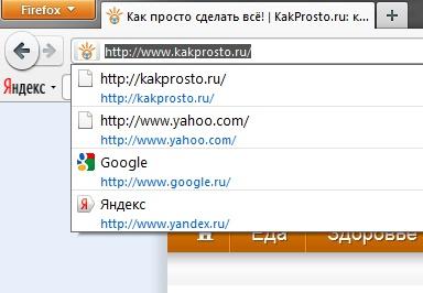 Любой браузер запоминает все, что вводится в адресной строке