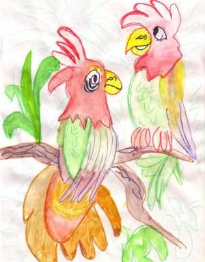 Ловим движение попугая