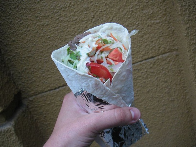 Shawarma is a traditional Middle Eastern dish