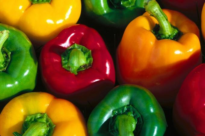 Разноцветные перцы украсят любой салат