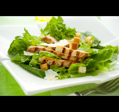 How to prepare the chicken for Caesar