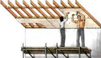 Как крепить гипсокартон на потолке