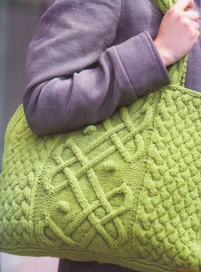How to knit a bag with needles