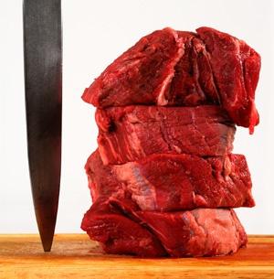 Meat should always be cut across the grain