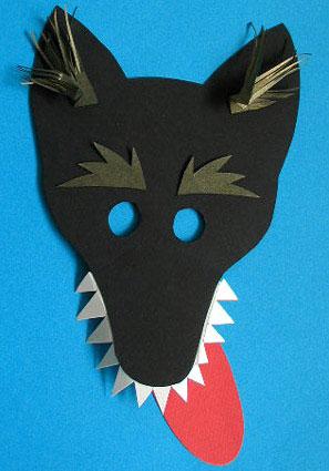 Маски своими руками из бумаги волка