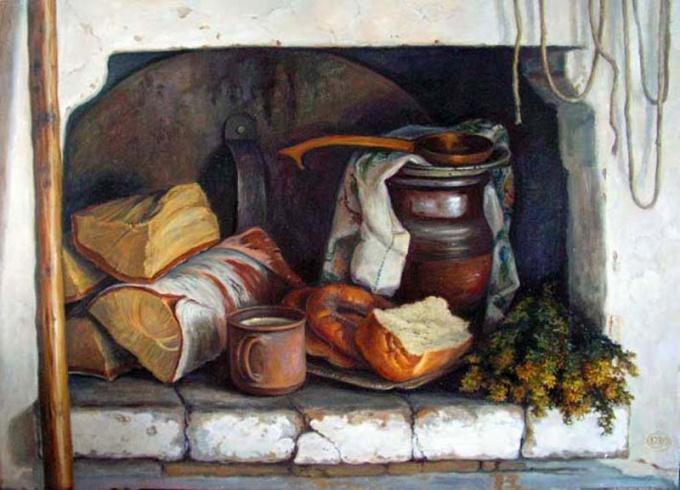 Русская печка и согреет и накормит