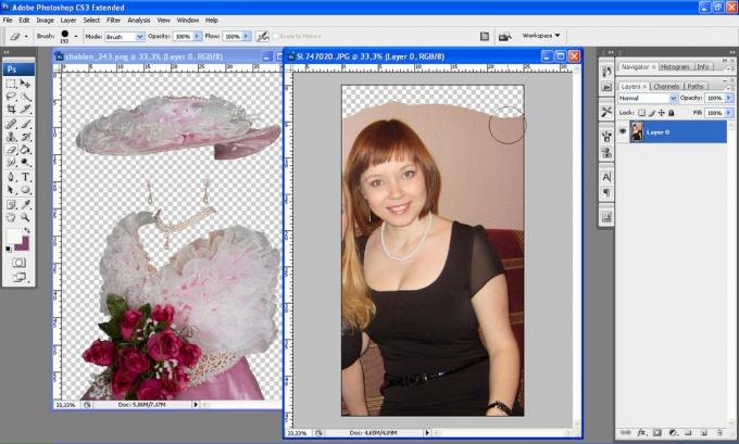 Как вставить свое фото в шаблон фотошопа