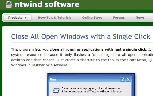 Как закрыть все <strong>окна</strong>