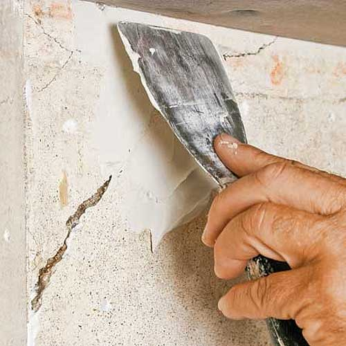 Sealing of cracks is a simple process