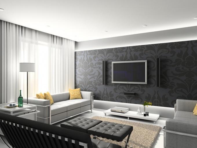 Плазменная панель  не только отлично передает изображение, она становится стильной частью интерьера