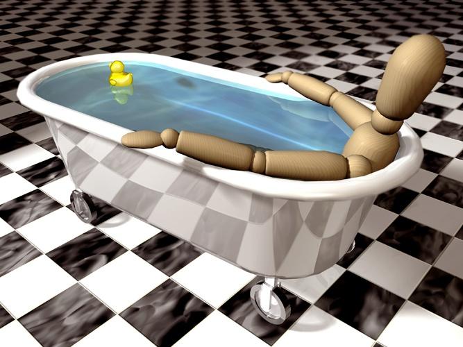 Ванна поможет любому определить объем своего тела