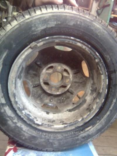 Старый диск перед покраской