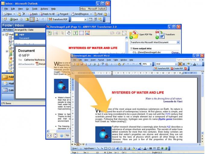 Конвертация документов формата pdf  вполне возможна