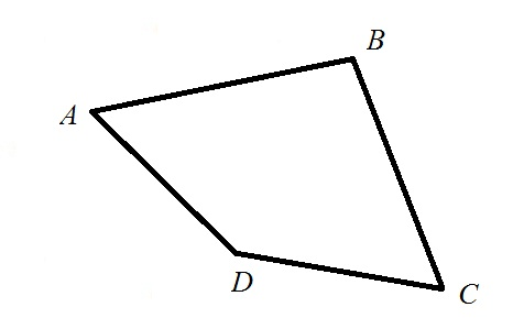 The quadrilateral ABCD is