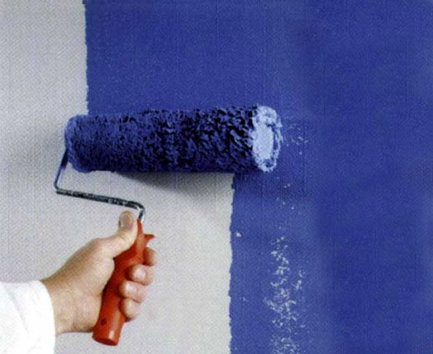 Как красить обои под покраску