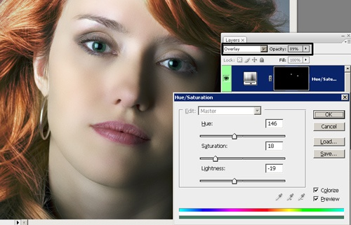 Как изменить губы в фотошопе