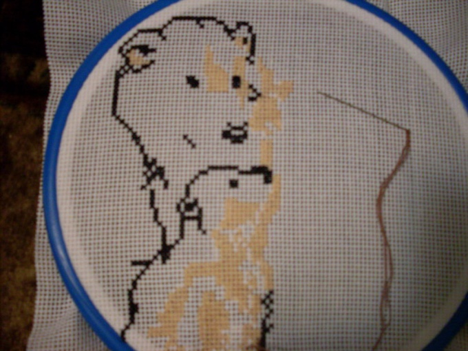 How to embroider <b>cross</b> <strong>canvas</strong>