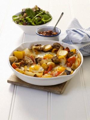 Жареный картофель идеально сочетается с грибами