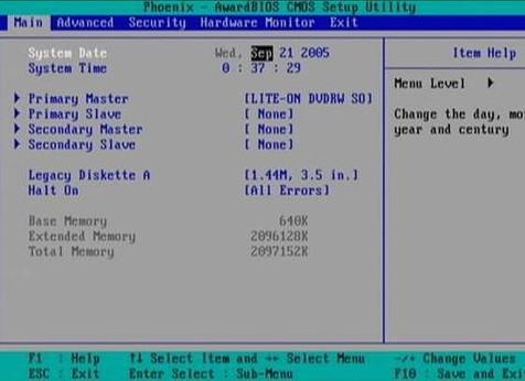 Как поменять BIOS