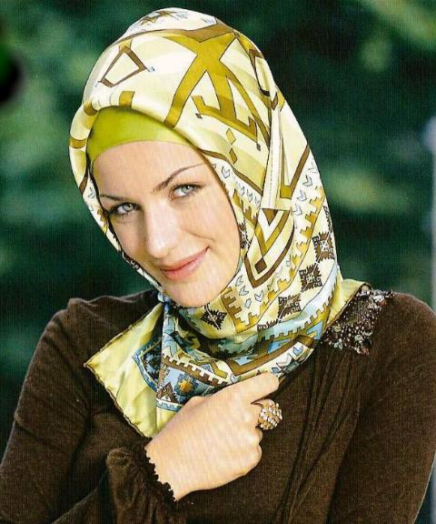 How to tie Muslim scarf