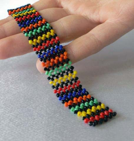 Как плести прямым плетением фенечки