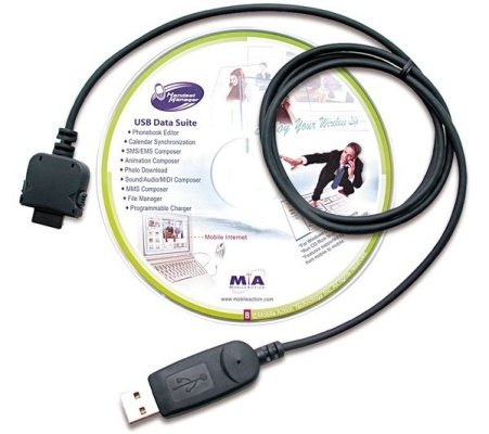 DATA-кабель и установочный диск с драйверами