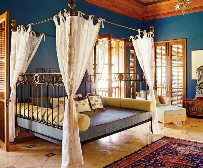 Восточный стиль идеально подходит для оформления спальни