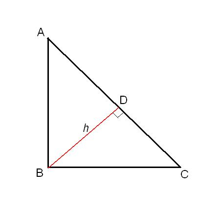 How to find the height in a right triangle
