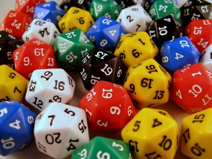 Кубики с нумерованными гранями часто используются в задачах на вычисление вероятности события