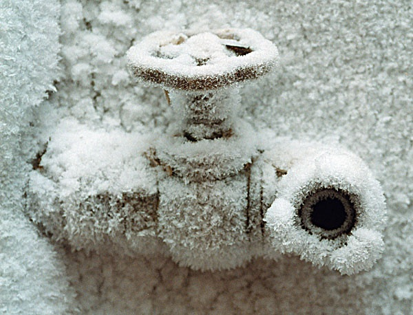 If the pipe froze, the boiling water under pressure