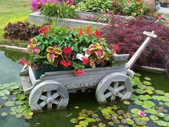 Красивый сад это живое произведение искусства