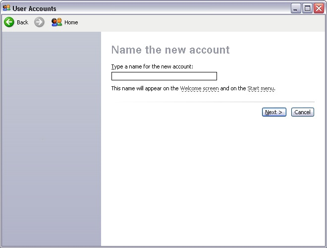 Как изменить имя пользователя